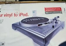 ION LP Dock Turntable Record Player-USB-IPOD-Recording-Vinyl Music Converter NIB