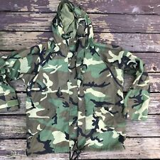 Military Issue Gore-Tex Woodland Camo Cold Weather Hooded Parka XLarge