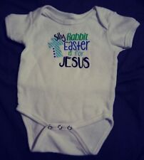 Silly Rabbit Easter Is For Jesus Infant One Piece Top Size 6 mths
