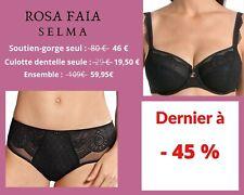 Rosa Faia SELMA Noir lingerie / ensemble / soutien-gorge / culotte dentelle