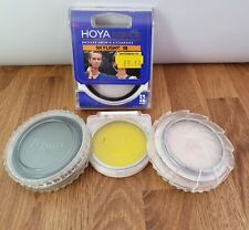 Vintage Vivitar, Hoya, B+W, Skylight 55mm Polarizing, Yellow Camera Lenses x4