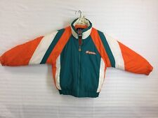 "Vintage NFL Game Day ""Miami Dolphins"" Zipper Puffy Jacket, Sz L"