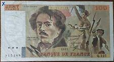 Billet 100 francs Eugène DELACROIX 1987 FRANCE  Q.125