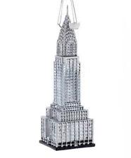 Kurt Adler Noble Gems Chrysler Building Glass  Ornament New