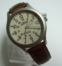 Men's TIMEX EXPEDITION Indiglo Leather Strap Watch - Running