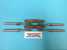 "Aircraft 4 Swageable Cable Ends +2 AN155- Turnbuckles to Make 1/8"" Cable Assy's"