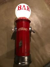Vintage Fire Hydrant Bar Light Lamp Battery Operated Metal Base Plastic Globe