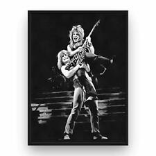 Randy Rhoads Poster 13x19 Canvas Black and White Print Ozzy Osbourne Tribute