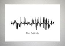 Muse – Plug In Baby - Sound Wave Print Poster Art