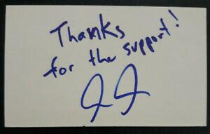 Audie Attar (Conor McGregor Manager) Signed Auto Autograph 3x5 Index Card UFC