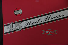 Rover-Scott Bonnar Model 45 Vintage Mower Red Decals
