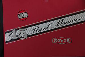 Rover-Scott Bonnar Model 45 Vintage Mower Red Decals