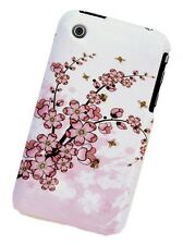 Pink Cherry Flower Cover Skin Case fit Apple iPhone 3GS