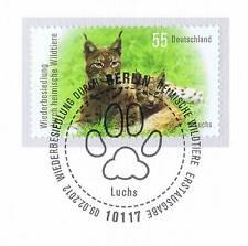 FRG 2012: Wiederansiedlung of the Lynx no. 2913 with Berlin Special postmark! 1A