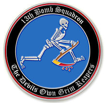 THE DEVIL'S OWN GRIM REAPER, OSCAR -13th Bomb Squadron - Challenge Coin