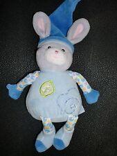 Doudou peluche musical HS lapin bleu GIPSY 23cm