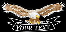 Eagle wide wing xl your text text to desire patch embroidered iron - on patch