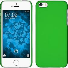 Hardcase Apple iPhone SE rubberized green Cover + protective foils