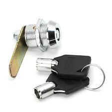 20mm Drawer Tubular Cam Lock For Door Mailbox Cabinet Cupboard + 2 Keys NEW