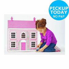 Chad Valley Wooden 3 Storey Dolls House Playset Pink - 3+ Years