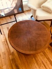 Adrian Pearsall for Lane Vtg Round Base Walnut Drum Table MCM