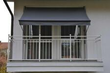 Angerer Klemmmarkise dunkelgrau 300 cm Balkonmarkise Markise Balkon Handkurbel