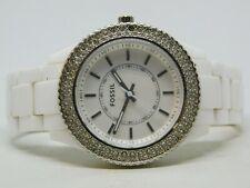 Fossil ES-2444* White Tone Quartz Analog Ladies Watch
