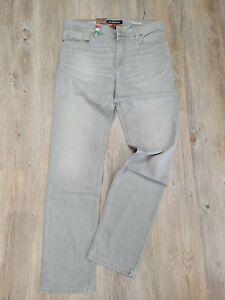 "Alberto Jeans  PIPE Sommerdenim  light grey scratched used  ""NEU""  Gr. W38 / L34"