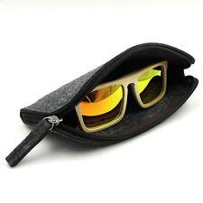 2018 New Wool Felt Zipper Sunglasses Pouch Eyewear Protect Bag Soft Carry Case
