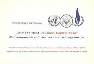 #UC42 13c Human Rights Aerogramme First Day Ceremony  Program