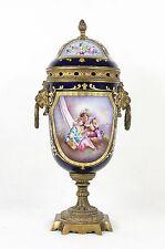Sevres France Porcelain Bronze Vase Urn Signed 19 century