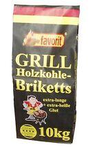 Favorit 3001 Grill Briketts Holzkohle 10 kg Grillkohle Brikett Grillholzkohle