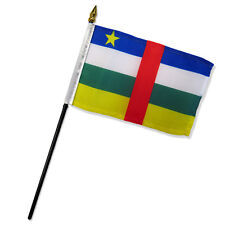 """Wholesale Lot of 12 Central African Republic 4""""x6"""" Desk Table Stick Flag"""