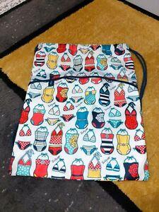 Thirty One SWEET SWIM SUITS Cinch Sac Drawstring Back Pack Purse Pool Beach Bag