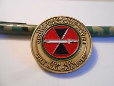U.S Army Fort Carson The Mountain Post Garrison Sgt Maj Challenge Coin #443
