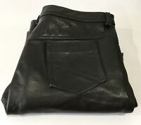 Gypsy Leather & Suede - Mens Black Leather Jeans Pants Size W42 L28 Motorcycle