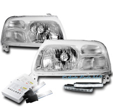 FOR 99-04 SUZUKI VITARA/02-03 XL-7 CHROME HEADLIGHT HEADLAMP W/DRL LED+6000K HID