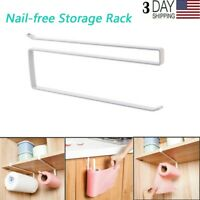 Kitchen Storage Rack, Paper Towel Rack, Nail-free Storage Rack For Cabinets