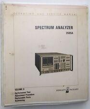 HP 3585A Spectrum Analyzer Operating & Service Manual Vol 2 P/N 03585-90001
