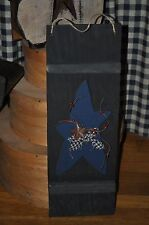 Handpainted Wooden Wall Hanging PRIMITIVE Shutter, Wood Star, Pips & Rusty Star