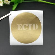 "100pcs Scratch Off Stickers 2"" Circle Gold Round Shape Big Size blank"