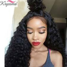 """16"""" Curly Glueless Lace Wigs Human Hair Brazilian Remy Lace Front Wig For Women"""