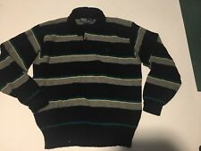 Ralph Lauren Rugby Mens Sz Large rugby Sweater Stripe  Wool