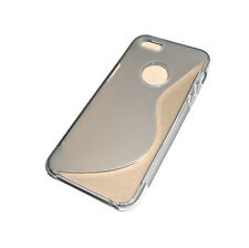 NEW GRAY SOFT PLASTIC APPLE IPHONE 5 5S SMARTPHONE CASE SUPER FAST SHIPPING