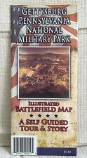 GETTYSBURG NATIONAL MILITARY PARK ILLUSTRATED BATTLEFIELD SELF GUIDED MAP NEW