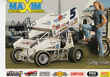 ASHLEY PARLETT AUTOGRAPHED PHOTO OPEN WHEEL MOTOR SPORT