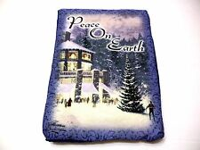 Thomas Kinkade Print Potholder Peace On Earth Snow Scene Christmas Holiday New