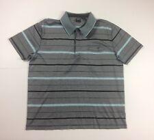 Hugo Boss Mens XL Grey Short Sleeve Striped Polo Shirt