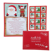 Childrens Reply from Santa Letter Set – Christmas Delivery from North Pole