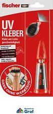 fischer UV KLEBER 4g mit UV-Lampe, klebt, repariert + füllt in Sekunden #834992